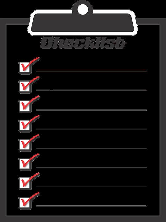 Horse trailer checklist
