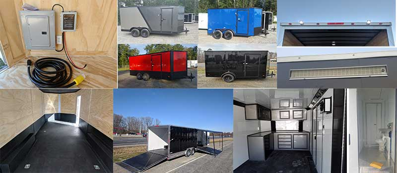 enclosed custom trailer options